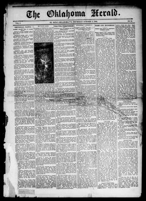 Primary view of object titled 'The Oklahoma Herald. (El Reno, Okla. Terr.), Vol. 5, No. 24, Ed. 1 Thursday, October 5, 1893'.