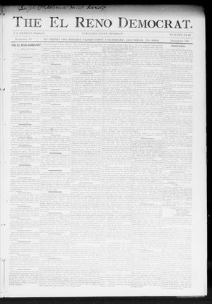 Primary view of object titled 'The El Reno Democrat. (El Reno, Okla. Terr.), Vol. 3, No. 38, Ed. 1 Thursday, October 26, 1893'.