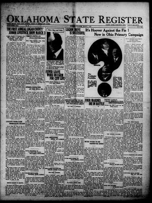 Primary view of Oklahoma State Register (Guthrie, Okla.), Vol. 36, No. 46, Ed. 1 Thursday, March 1, 1928