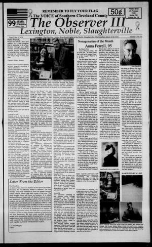 Primary view of The Observer III (Lexington, Okla.), Vol. 5, No. 3, Ed. 1 Monday, March 2, 2015