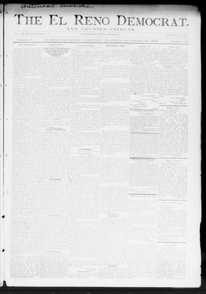 Primary view of object titled 'The El Reno Democrat. And Courier-Tribune. (El Reno, Okla. Terr.), Vol. 4, No. 47, Ed. 1 Thursday, December 28, 1893'.