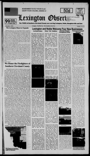 Primary view of Lexington Observer II (Lexington, Okla.), Vol. 1, No. 10, Ed. 1 Wednesday, December 1, 2010