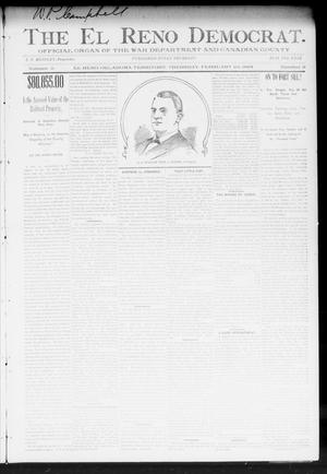Primary view of object titled 'The El Reno Democrat. (El Reno, Okla. Terr.), Vol. 5, No. 3, Ed. 1 Thursday, February 22, 1894'.