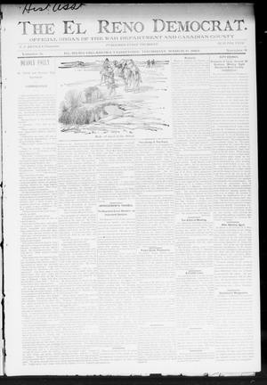 Primary view of object titled 'The El Reno Democrat. (El Reno, Okla. Terr.), Vol. 5, No. 6, Ed. 1 Thursday, March 8, 1894'.