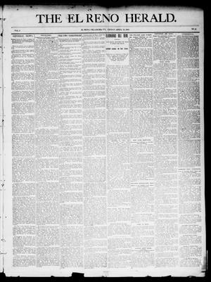 Primary view of object titled 'The El Reno Herald. (El Reno, Okla. Terr.), Vol. 5, No. 51, Ed. 1 Friday, April 13, 1894'.