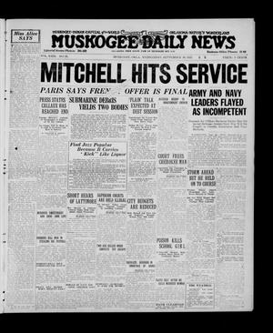 Primary view of Muskogee Daily News (Muskogee, Okla.), Vol. 23, No. 91, Ed. 1 Wednesday, September 30, 1925