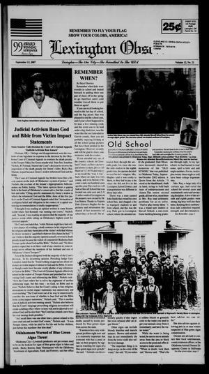 Primary view of Lexington Observer (Lexington, Okla.), Vol. 12, No. 22, Ed. 1 Thursday, September 13, 2007