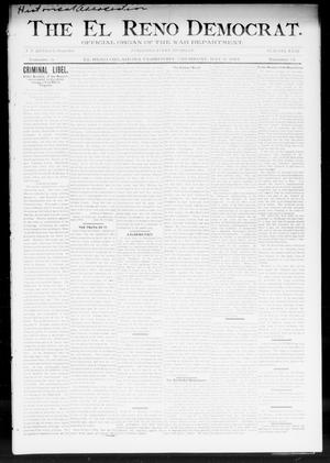 Primary view of object titled 'The El Reno Democrat. (El Reno, Okla. Terr.), Vol. 5, No. 14, Ed. 1 Thursday, May 3, 1894'.