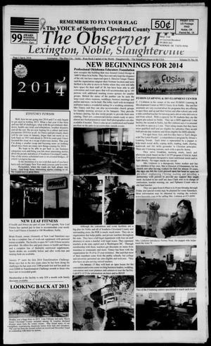 Primary view of The Observer III (Lexington, Okla.), Vol. 4, No. 1, Ed. 1 Monday, January 6, 2014