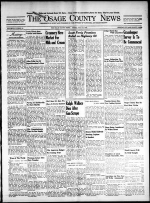 Primary view of The Osage County News (Pawhuska, Okla.), Vol. 24, No. 42, Ed. 1 Friday, July 17, 1936