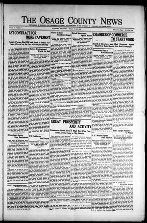 Primary view of The Osage County News (Pawhuska, Okla.), Vol. 12, No. 41, Ed. 1 Friday, June 5, 1925