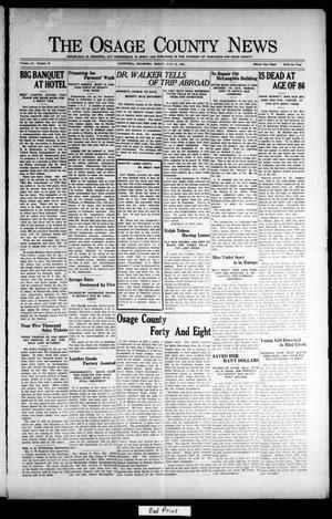 Primary view of The Osage County News (Pawhuska, Okla.), Vol. 12, No. 49, Ed. 1 Friday, July 31, 1925