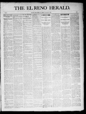 Primary view of object titled 'The El Reno Herald. (El Reno, Okla. Terr.), Vol. 6, No. 3, Ed. 1 Friday, August 10, 1894'.