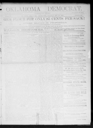 Primary view of Oklahoma Democrat. (El Reno, Okla. Terr.), Vol. 2, No. 42, Ed. 1 Thursday, November 24, 1892