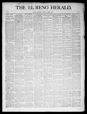 Primary view of object titled 'The El Reno Herald. (El Reno, Okla. Terr.), Vol. 6, No. 11, Ed. 1 Friday, October 5, 1894'.