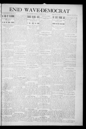 Primary view of object titled 'Enid Wave-Democrat (Enid, Okla.), Vol. 1, No. 4, Ed. 1 Saturday, December 26, 1908'.