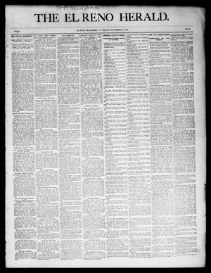 Primary view of object titled 'The El Reno Herald. (El Reno, Okla. Terr.), Vol. 6, No. 15, Ed. 1 Friday, November 2, 1894'.