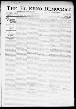 Primary view of object titled 'The El Reno Democrat. (El Reno, Okla. Terr.), Vol. 5, No. 44, Ed. 1 Thursday, November 29, 1894'.
