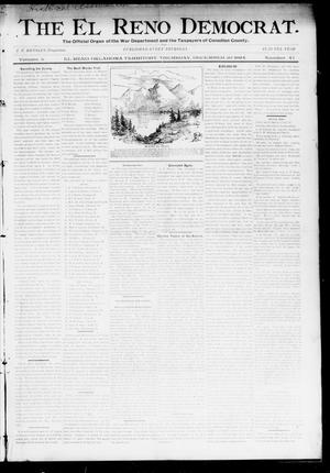 Primary view of object titled 'The El Reno Democrat. (El Reno, Okla. Terr.), Vol. 5, No. 47, Ed. 1 Thursday, December 20, 1894'.