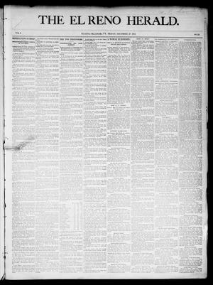 Primary view of object titled 'The El Reno Herald. (El Reno, Okla. Terr.), Vol. 6, No. 23, Ed. 1 Friday, December 28, 1894'.