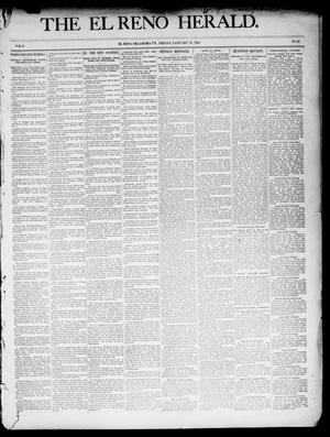 Primary view of object titled 'The El Reno Herald. (El Reno, Okla. Terr.), Vol. 6, No. 25, Ed. 1 Friday, January 11, 1895'.