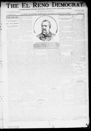 Primary view of object titled 'The El Reno Democrat. (El Reno, Okla. Terr.), Vol. 6, No. 3, Ed. 1 Thursday, February 14, 1895'.