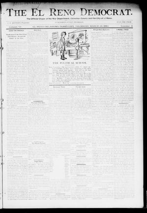 Primary view of object titled 'The El Reno Democrat. (El Reno, Okla. Terr.), Vol. 6, No. 9, Ed. 1 Thursday, March 28, 1895'.