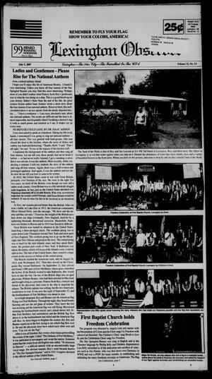 Primary view of Lexington Observer (Lexington, Okla.), Vol. 12, No. 13, Ed. 1 Thursday, July 5, 2007