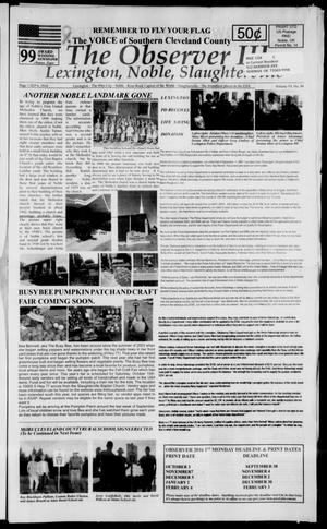 Primary view of The Observer III (Lexington, Okla.), Vol. 6, No. 9, Ed. 1 Tuesday, September 6, 2016