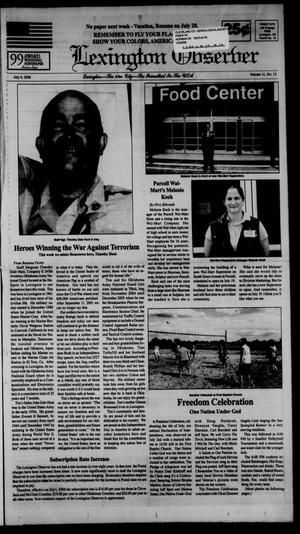 Primary view of Lexington Observer (Lexington, Okla.), Vol. 11, No. 13, Ed. 1 Thursday, July 6, 2006