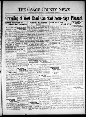 Primary view of The Osage County News (Pawhuska, Okla.), Vol. 16, No. 3, Ed. 1 Friday, September 2, 1927