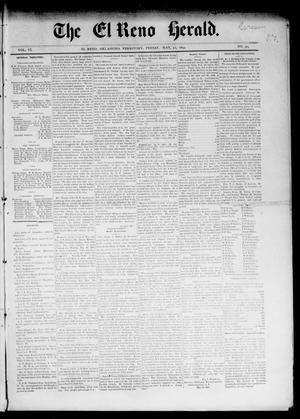Primary view of object titled 'The El Reno Herald. (El Reno, Okla. Terr.), Vol. 6, No. 50, Ed. 1 Friday, May 31, 1895'.