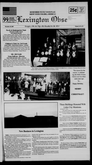 Primary view of Lexington Observer (Lexington, Okla.), Vol. 12, No. 38, Ed. 1 Thursday, December 20, 2007