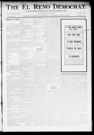 Primary view of object titled 'The El Reno Democrat. (El Reno, Okla. Terr.), Vol. 6, No. 20, Ed. 1 Thursday, June 13, 1895'.