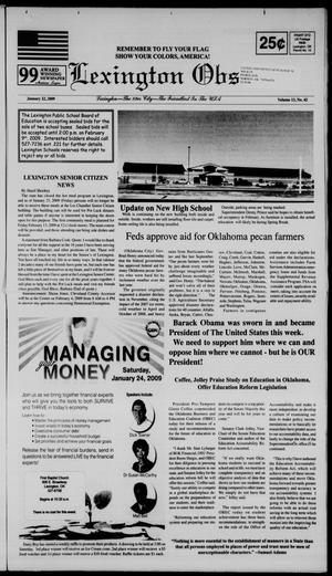 Primary view of Lexington Observer (Lexington, Okla.), Vol. 13, No. 42, Ed. 1 Thursday, January 22, 2009