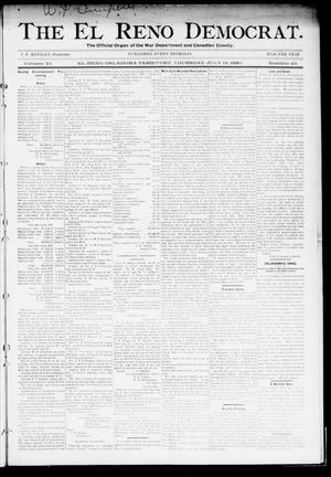 Primary view of object titled 'The El Reno Democrat. (El Reno, Okla. Terr.), Vol. 6, No. 25, Ed. 1 Thursday, July 18, 1895'.