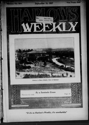 Primary view of Harlow's Weekly (Oklahoma City, Okla.), Vol. 26, No. 37, Ed. 1 Saturday, September 10, 1927