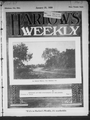 Primary view of object titled 'Harlow's Weekly (Oklahoma City, Okla.), Vol. 27, No. 3, Ed. 1 Saturday, January 21, 1928'.