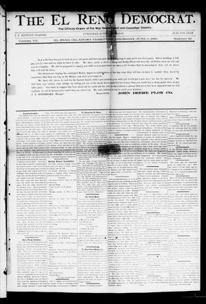 Primary view of object titled 'The El Reno Democrat. (El Reno, Okla. Terr.), Vol. 7, No. 20, Ed. 1 Thursday, June 11, 1896'.