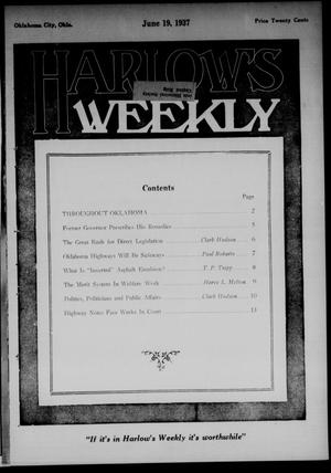 Primary view of object titled 'Harlow's Weekly (Oklahoma City, Okla.), Vol. 47, No. 51, Ed. 1 Saturday, June 19, 1937'.