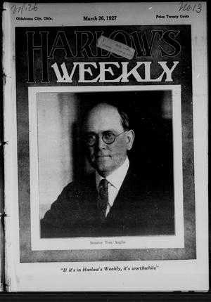 Primary view of Harlow's Weekly (Oklahoma City, Okla.), Vol. 26, No. 13, Ed. 1 Saturday, March 26, 1927