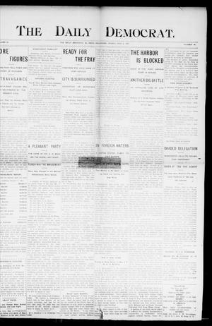 Primary view of object titled 'The Daily Democrat. (El Reno, Okla.), Vol. 4, No. 46, Ed. 1 Friday, May 6, 1904'.
