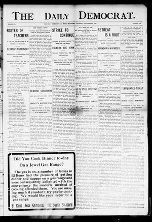 Primary view of object titled 'The Daily Democrat. (El Reno, Okla.), Vol. 4, No. 144, Ed. 1 Thursday, September 8, 1904'.