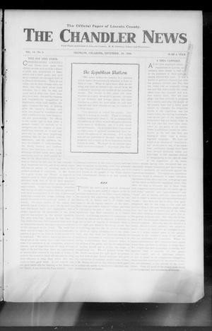 Primary view of object titled 'The Chandler News (Chandler, Okla.), Vol. 14, No. 2, Ed. 1 Thursday, September 29, 1904'.