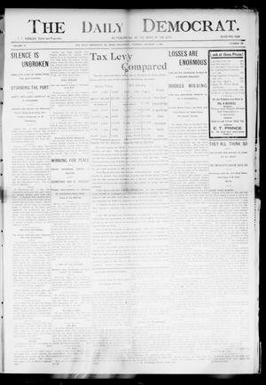 Primary view of object titled 'The Daily Democrat. (El Reno, Okla.), Vol. 4, No. 166, Ed. 1 Tuesday, October 4, 1904'.