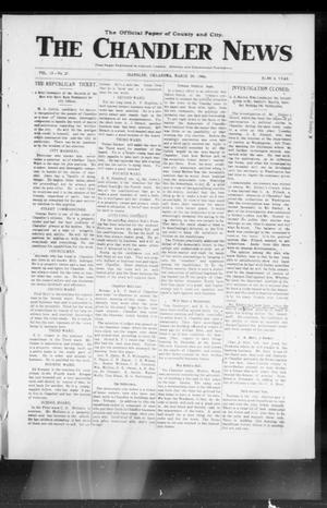 Primary view of object titled 'The Chandler News (Chandler, Okla.), Vol. 15, No. 27, Ed. 1 Thursday, March 29, 1906'.