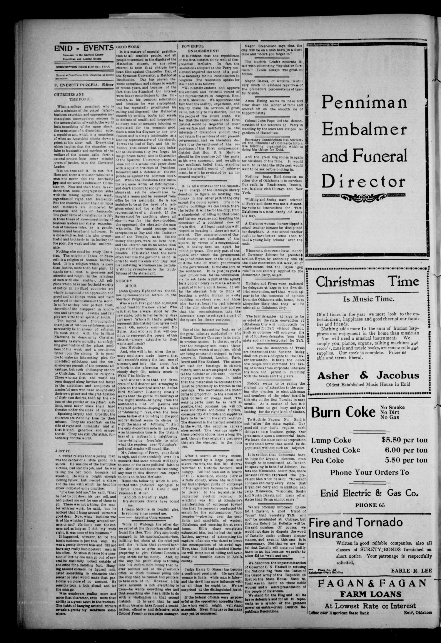 The Enid Events. (Enid, Okla.), Vol. 16, No. 23, Ed. 1 Thursday, March 12, 1908                                                                                                      [Sequence #]: 2 of 8