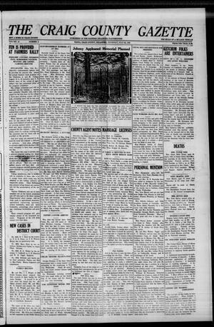 Primary view of The Craig County Gazette (Vinita, Oklahoma), Vol. 25, No. 2, Ed. 1 Thursday, July 22, 1926