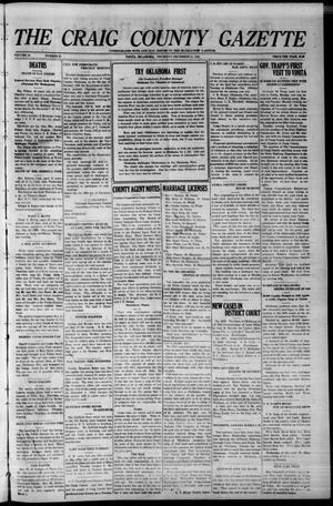 Primary view of The Craig County Gazette (Vinita, Oklahoma), Vol. 24, No. 25, Ed. 1 Thursday, December 31, 1925