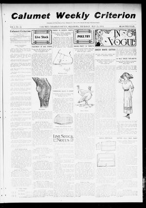 Primary view of object titled 'Calumet Weekly Criterion (Calumet, Okla.), Vol. 3, No. 45, Ed. 1 Thursday, May 25, 1911'.